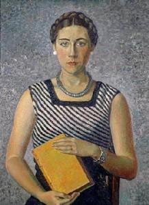 Gino Severini (1883-1966) : Gina sa fille - 1934 dans Citatons : lecture 57-239-gino-severini_Portrait-de-Gina-le-fille-du-peintre-1934--218x300