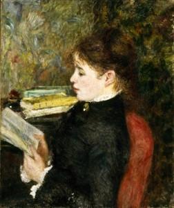 Auguste Renoir (1841-1919) : La Liseuse verte - 1877 dans Citatons : lecture 59-007-renoir--252x300