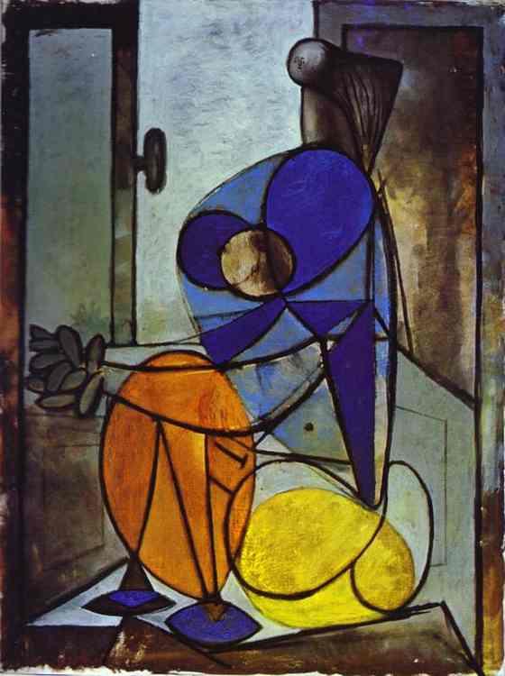 Pablo Picasso (1881-1973) : Jeune femme - 1937 dans Fenêtre 57-213-1937-jeune-femme-