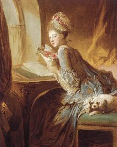 Jean Honoré Fragonard (1732-1806) : La Lettre d'amour - 1770 dans Femme : Lecture 57-232-Jean-Honoré_Fragonard_-_La_lettre_damour--240x300